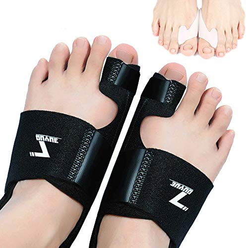 ZOUYUE Bunion Corrector, Orthopedic Bunion Splint, Adjustable Big Toe Separator Pain Relief for Day and Night, Non-Surgical Hallux Valgus Correction, Hammer Toe Straightener(Black)