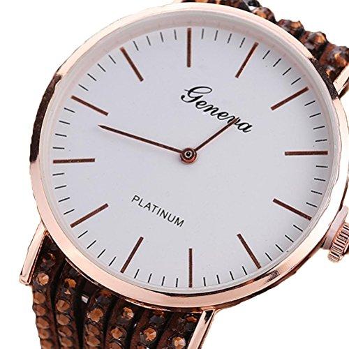 Xinantime Relojes Pulsera Mujer,Xinan Flores Reloj de Cuarzo Brillante (Marrón)