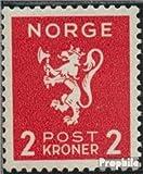 Prophila Collection Noruega 209 1940 león (Sellos para los coleccionistas)