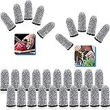 Finger Cots Cut Resistant Protection Finger Sleeve Protectors Reusable Finger Covers Finger Protection Cots for Kitchen, Work, Sculpture Supplies (30)