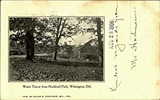 Water Tower From Rockford Park Wilmington, Delaware Original Vintage Postcard