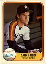 1981 Fleer Baseball Rookie Card #72 Danny Heep