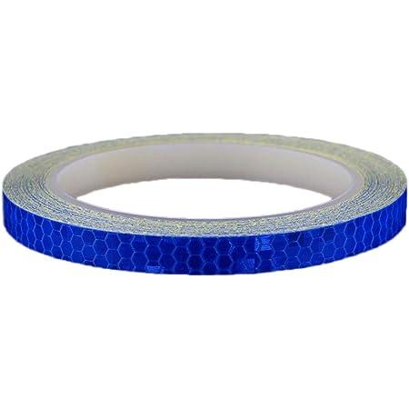 VORCOOL Pegatina Adhesiva Reflectante de Rueda de Bicicleta y Moto para Accesorio de Seguridad 8M (Azul)