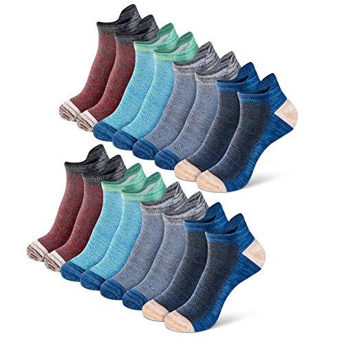 Newdora Sneaker Socken Herren Damen 8 Paar, Baumwollsocken kurzsocken Unisex, 37-42