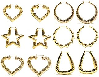 Best gold bamboo earrings wholesale Reviews