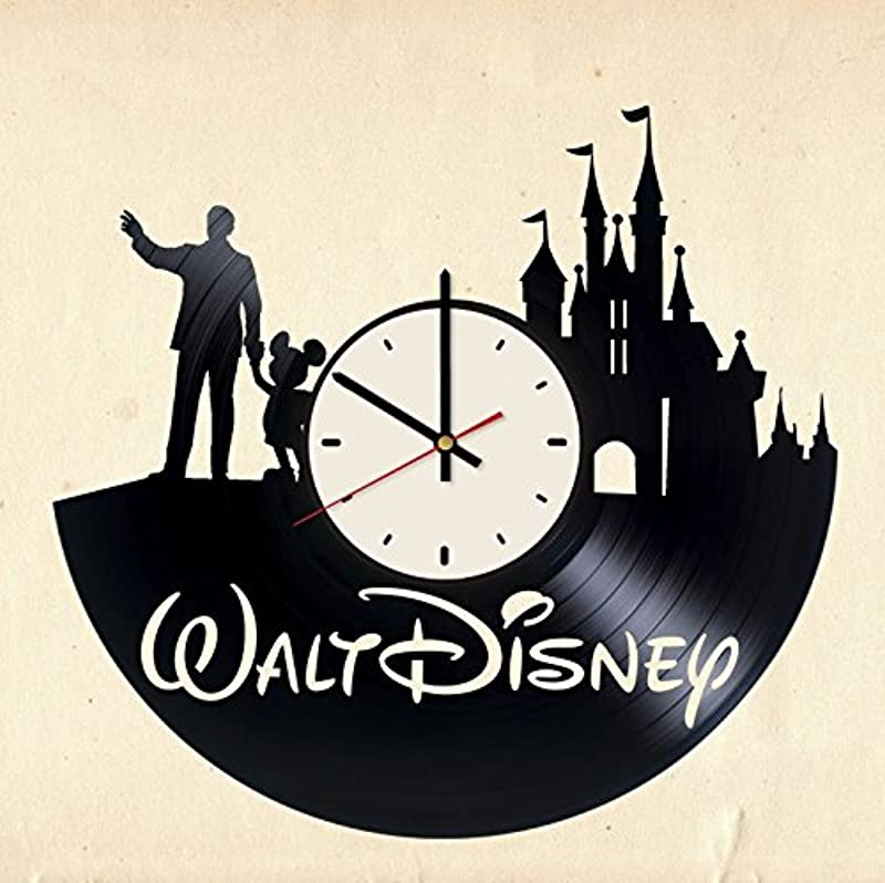 Walt Disney World Vinyl Wall Clock Cinderella Castle Unique Gifts Living Room Home Decor