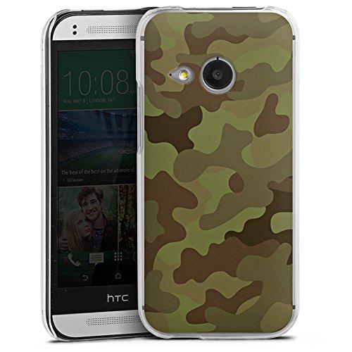 DeinDesign Hard Case kompatibel mit HTC One Mini 2 Schutzhülle transparent Smartphone Backcover Camouflage Tarnmuster Bundeswehr