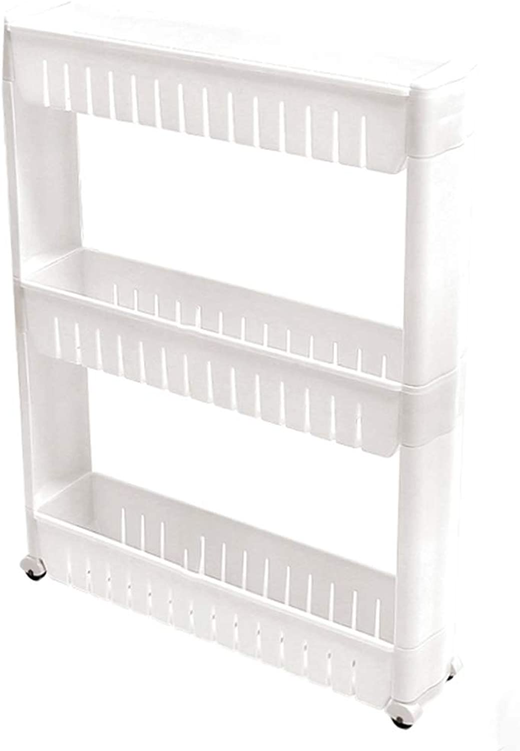 HUYP Thickened Quilted Rack Removable Bathroom Bathroom 3 Shelves Storage Rack (color   White)