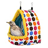Kuoser Hamaca colgante de pájaro de invierno, suave y cálida, de felpa, jaula para loros, jaula para mascotas Conure Lovebird