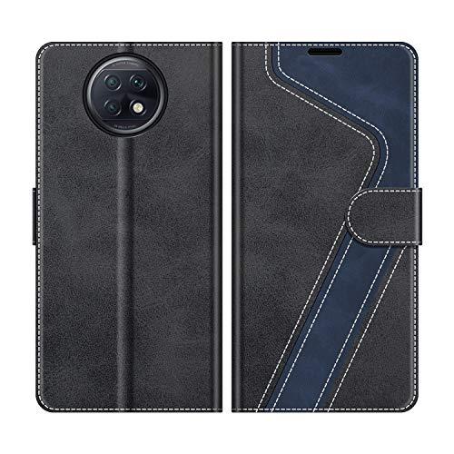 MOBESV Handyhülle für Xiaomi Redmi Note 9T 5G Hülle Leder, Xiaomi Redmi Note 9T 5G Klapphülle Handytasche Hülle für Xiaomi Redmi Note 9T 5G Handy Hüllen, Modisch Schwarz