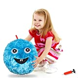 Balls for Kids,Inflatable Balls, Monster Plush Ball,16' Inflatable Balls with Air Pump - Indoor and Outdoor Fun Emoji BallGifts for Boys and Girls