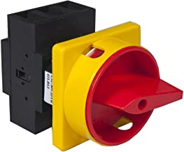 Csii Disconnect Switch, 40 amps UL, 3 pole, panel mount with round red/yellow padlock.