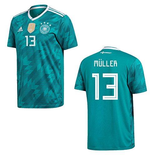 DFB DEUTSCHLAND Trikot Away Herren WM 2018 - MÜLLER 13, Größe:M