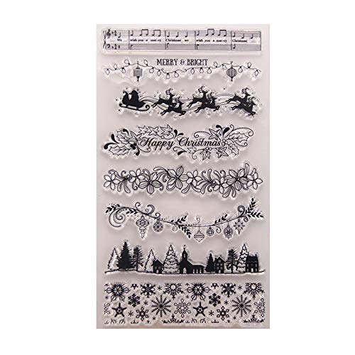 GIMITSUI Store Silicone Clear Stamp (Christmas Lace)