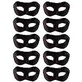 10 Pcs Unisex Retro Masquerade Mask Face Mask Venetian Mask for Fancy Dress Costume Halloween Party(Black)