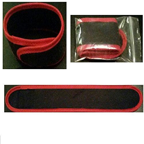 10 x Rutenklettband 25 cm x 4 cm weiches Material (SCHWARZ ROT) Premium Angeln Ruten Camping Garten Haushalt Rutenhalter