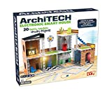 SmartLab Toys Archi-Tech Electronic Smart House - 62 Pieces - 20 Projects - Includes Light and Sound, Multicolor, 16 x 10 x 9'