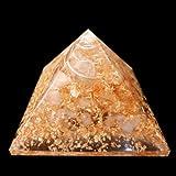 citrine-wealth-amp-expression Orgonite Pirámide/Reiki Crytsal pirámides para el chakra de la curación y decoración del hogar 65mm con funda