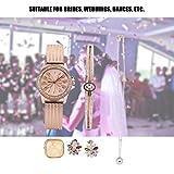 Ensemble Cadeau de Bijoux, Ensemble de Montre de Bijoux avec Boîte, Kit de Montres Femmes Montre Bracelet Boucles D oreilles Bague Collier Bracelet pour Femme Cadeau (or rose)