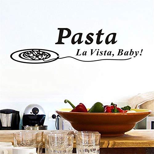 Stickers Muraux Citations Pâtes La Vista Bébé Stickers Drôle Salle À Manger Home Decor Cuisine Décorations