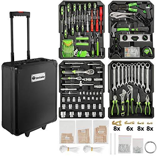TecTake 899 teiliger Alu Werkzeugkoffer Trolley mit Werkzeug gefüllt / 4...