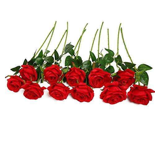 Ramo de rosas artificiales de seda Justoyou para arreglos florales par