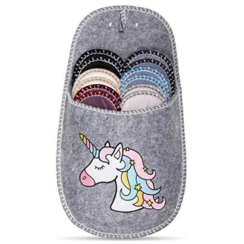 ONVAYA Pantofole per ospiti antiscivolo | set di 6 | Ciabatta in feltro | unicorno