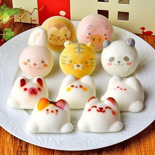 Latte マシュマロ ラテマル 5個 お絵かき動物っこ 5個 動物 スイーツ お菓子 詰め合わせ お家の箱入り