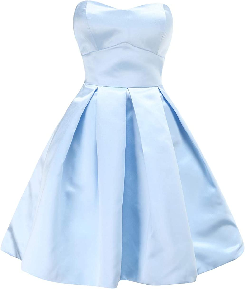 ANGELWARDROBE Sexy Cocktail Dresses for Women, A-Line Short Prom Dresses 2021 for Teens with Pockets