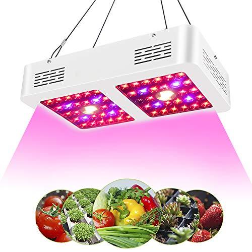 Corayer LED Pflanzenlampe,600W led Grow Lampe,Reflector Series LED Grow Light,Vollspektrum Pflanzenlicht für Zimmerpflanzen, Gemüse, Blumen, Obst