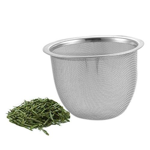 MZY1188 Filtro de té de Filtro de té de Malla de Acero Inoxidable de 2 Piezas, Filtro de Tetera de Malla de escurridor