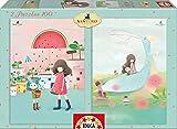 KORI KUMI - 2 Puzzles, Melon Shower & House Boats, 100 Piezas (Educa Borrás 16725)