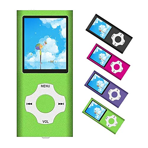 MP3 Player / MP4 Player, Portable Music Player with a 32GB TF Card with Music/Video/Voice Record/FM Radio/E-Book Reader/Photo Viewer, Support up to 64GB (Green)