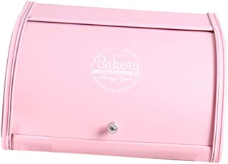Baoblaze Baking Accessories Bread Bin Cupcake Cookies Canister Storage Box Dustproof, Black Pink & White, for Pastries, To...