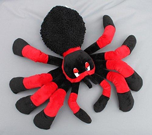Plüschtier Spinne rot oder lila in 2 Größen, Größe:30 cm;Farbe:rot