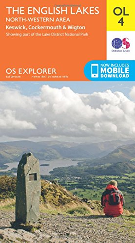 OS Explorer Map: OL4 The English Lakes – North Western area from Ordnance Survey