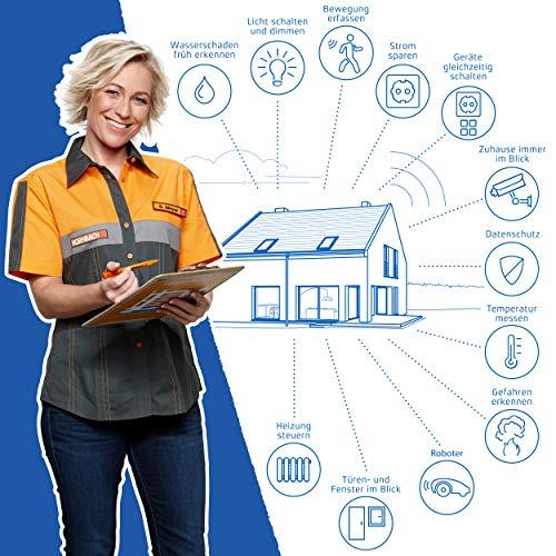 SMART HOME by hornbach Starter Set Sicherheit Gateway, Fibaro Tür-Fensterkontakt, Fibaro Rauchmelder, Fibaro Wassermelder - 6