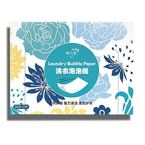 WANGXIU Pastillas y detergentes para Ropa Las sábanas de detergente de lavandería más Grandes, hipoalergénicos ecológicos fáciles de Usar (32 Cargas) Excelentes en la Ropa de Entrenamiento Ligero