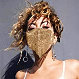 Sethain Sparkly Rhinestone <span class='highlight'>Masquerade</span> <span class='highlight'>Mask</span> <span class='highlight'>Gold</span> Glittery Crystal Mesh <span class='highlight'>Mask</span>s Ball Jewelry for Women and Girls