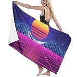 Gebrb Serviette de Bain, Serviettes de Toilette Bath Towels Sun 31'x51' Premium Towel Blanket Super Soft Absorbency