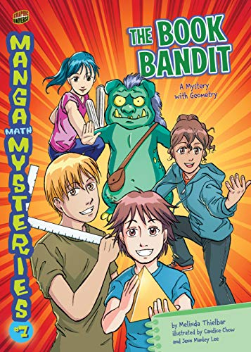 The Book Bandit: A Mystery with Geometry (Manga Math Mysteries 7) (English Edition)