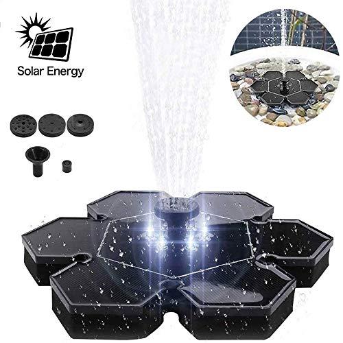 ACEWD Solar Springbrunnen Auch Ohne Sonne, Solar Teichpumpe, Gartenteich Solarpumpen Für Brunnen, Brunnen Solar, Solar-Springbrunnen,Ax