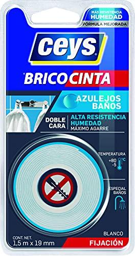 Ceys 507640 - Blister Brico Cinta doble cara Azulejosy Baños 1,5 x 19 mm