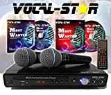 Vocal-Star VS-400 CDG DVD HDMI Karaoke-Maschine inkl. 2 Mikrofone & Songs
