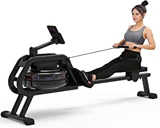 Rowing Machine,Mute Rowing Machine Foldable Indoor Adjustable Resistance with Tablet Phone Holder,Rowing Machine for Home ...