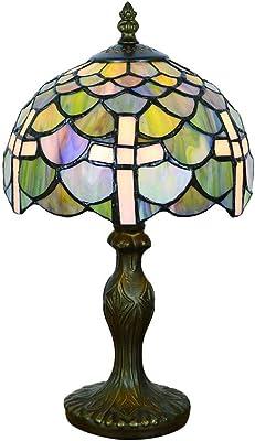 Lámparas de mesa vintage de Tiffany, (8 pulgadas) Semicircular ...