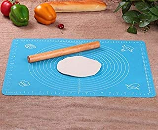 Rolling Pin & Silicon Pastry Mat,Silicone Large Pastry Mat With 19.6