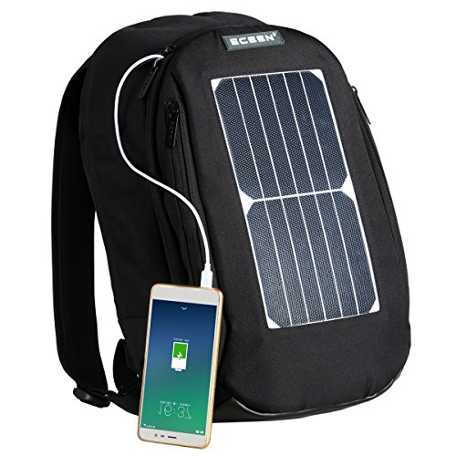 Laptop Backpack with 7W Waterproof Solar Panel Charger + 2000mAH Rechargeable...