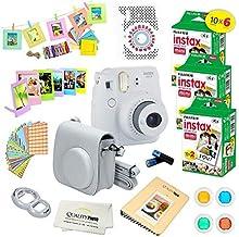 Fujifilm Instax Mini 9 Instant Camera Smokey White w/Fujifilm Instax Mini 9 Instant Films (60 Pack) + A14 Pc Deluxe Bundle...