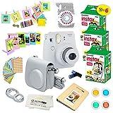Fujifilm Instax Mini 9 Instant Camera Smokey White w/Fujifilm Instax Mini 9 Instant Films (60 Pack) + A14 Pc Deluxe...